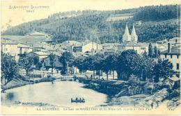 07/CPA - La Louvesc - Le Lac De Grand Lieu Et La Ville - La Louvesc
