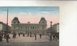 Bruxelles Place Rogier Et Gare Du Nord Animée - Marktpleinen, Pleinen