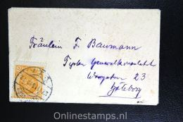 Sweden: Cover 1916 To Göteborg Nr 40 2 Ore
