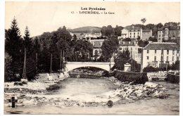 CP, 65, LOURDES, Le Gave, Vierge - Lourdes