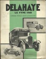 VOITURE DELAHAYE  LE TYPE 120 - Publicité