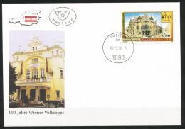 Österreich - FDC -  Mi.Nr.   2263 -  100 Jahre Volksoper Wien; 50. Todestag Von Franz Lehár  1998 - FDC