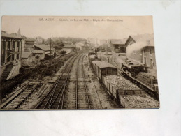 Carte Postale Ancienne : AGEN : Chemin De Fer Du Midi , Depot De Marchandises , Trains , Locomotive - Agen