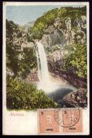 FUNCHAL / MADEIRA  / PORTUGAL Postal Colorido Litho Cascata De água. Old Postcard WATERFALL 1900s - Madeira