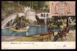 FUNCHAL / MADEIRA  / PORTUGAL Postal Colorido Lago Do Monte Palace Hotel . Old Postcard - Madeira