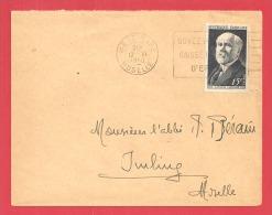 N°Y&T 864  METZ         Vers   IMLING   Le    12 JUIN1950 - Marcophilie (Lettres)