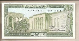 Libano - Banconota Non Circolata FdS Da 5 Livres P-62d - 1986 - Libano