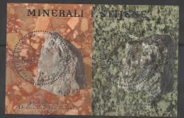 CROATIA,2012,MINERALS, S/SHEET, EMBOSSED, NICE - Minéraux