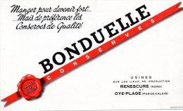 - BUVARD Conserves BONDUELLE Usines à RENESCURE Et OYE-PLAGE - 394 - Alimentaire