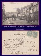1905 SUPERBE MARCHE  MANCHE  VILLEDIEU-les-POELES  PLACE Du MARCHE - Villedieu