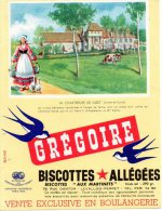 - BUVARD Biscottes GREGOIRE - 399 - Biscottes