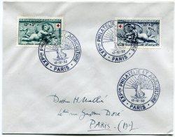 FRANCE ENVELOPPE AFFRANCHIE AVEC PAIRE CROIX-ROUGE 1952 OBLITERATION 1er JOUR ILLUSTREE EXPon PHILATELIE ET AGRICULTURE - Croce Rossa