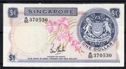 SINGAPUR 1967. 1 DOLARES.PICK Nº1 MBC+.RARO. B276 - Singapore