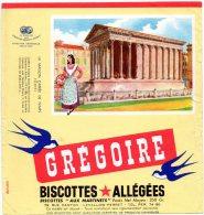 - BUVARD Biscottes GREGOIRE , Deux Bords Abimés - 403 - Biscottes