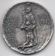 Cesena - Medaglia In Argento - Caduti Cesenati Per L´Italia - Ilario Fioravanti - Italie