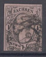 Sachsem Minr.9 Gestempelt Nr.-St. 8 Chemnitz - Sachsen