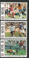 Coupe Du Monde 1994 USA. 3 T-p Neufs ** De L´île NEVIS  (CARAÏBES)  (Diego Maradona,Michel Platini,Luiz Costa,etc) - 1994 – Vereinigte Staaten