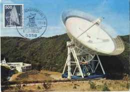 Radiotélescope: Carte Maximum D'Allemagne, 1977  –  Radio Telescope, Astronomy. Astronomie Physique - Astronomie