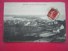 CPA 50  CARTERET  VUE GENERALE PRISE DES DUNES DE SABLE   VOYAGEE 1912 TIMBRE - Carteret