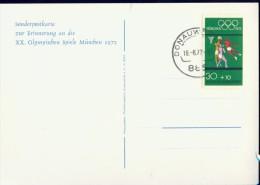 PC2-65 WEST GERMANY 1972 SONDERPOSTKARTE OLYMPICS MUNCHEN 1972. - Ete 1972: Munich