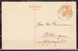 P 112 Germania Antwortteil, Grosssachsenheim Nach Boeblingen 1917 (42961) - Deutschland
