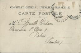311Cht     13 Marseille Carte Postale Consulat D´Italie Rue Sylvabelle (type Precurseur) Pertuis Agnelli - Marseille