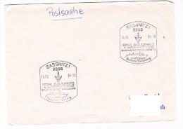 DDR Saßnitz SoSt Vorlage Postsache 75 Jahre Eisenbahnfähre Saßnitz - Trelleborg1984 - Schiffe