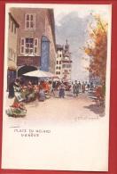 AGE-006 Litho Place Du Molard Genève, De Redmond, Non Circulé. Précurseur. - GE Genève