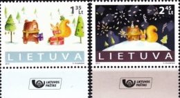 LITHUANIA 2013 Christmas And New Year. 1 Set Of 2v  (post Logo) **MNH** - Litouwen
