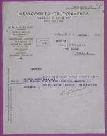 MARSEILLE Capucins MESSAGERIES DU COMMERCE Celestin Cuchet Fret 1920 - Bateaux