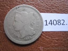 Estados Unidos De America , 3 Centimos 1866 , USA - EDICIONES FEDERALES