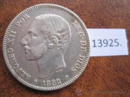 España , 2 Pesetas De Plata 1882 18 - 82 MSM , ALFONSO XII , 12 - Colecciones