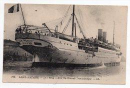 """Cpa - Saint Nazaire - Le """"Pérou"""" De La Cie Gle Transatlantique - (Paquebot) - Dampfer"""