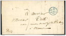 LAC - Courrier 1836 Paris Pour Ornans (25 Doubs) - Marcophilie (Lettres)
