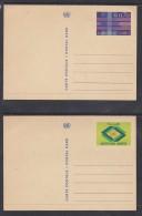 SWITZERLAND UNITED NATIONS GENEVA Postal Cards, F.s. 0.40, F.s. 0.70,  Good, Unused - Genève - Kantoor Van De Verenigde Naties
