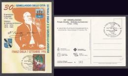 ITALY: FINALE EMILIA / GREZIEU-VARENNE,30th Anniversary; Francesco Casetti, Card 161 Of 800 - 6. 1946-.. Republic