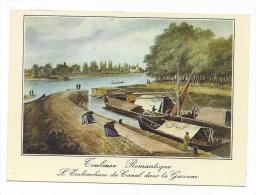 CPM - TOULOUSE Romantiques (31) L´ Embouchure Du Canal Dans La Garonne. REPRO Lithographie Animée Bateau - Toulouse
