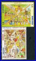 BANGLADESH 1994 TRADITIONAL FESTIVALS  SC# 451-452 VF NH - Bouddhisme