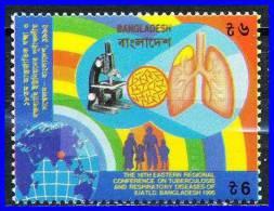 BANGLADESH 1995 TUBERCULOSIS/RESPIRATORY DISEASES SC# 497 MNH MICROSCOPE MEDICINE - Enfermedades