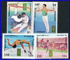 BANGLADESH 1996 SUMMER OLYMPIC GAMES SC# 521-24  VF NH JUDO WRESTLING - Summer 1996: Atlanta