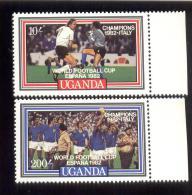 UGANDA SCOTT MINT N H # 359AB  (  ITALY'S VICTORY IN 1982 WORLD CUP FOOTBALL SOCCER - Ouganda (1962-...)