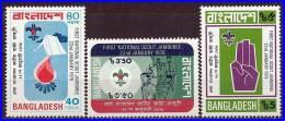 Bangladesh 1978 Scouts Jamboree SC#136-38 MNH Fire Medicine - Scouting