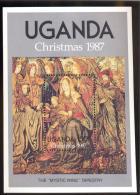 UGANDA SCOTT MINT N H # 588 ( CHRISTMAS  1987 - Uganda (1962-...)