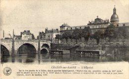 Cp , 71 , CHALON SUR SAONE , L'hopital , Ed: Desaix , écrite 1918 - Chalon Sur Saone
