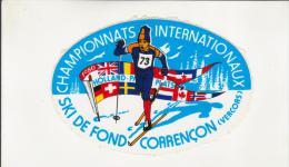 Autocollant - CORRENCON - VERCORS - CHAMPIONNATS INTERNATIONAUX DE SKI DE FOND - - Autocollants