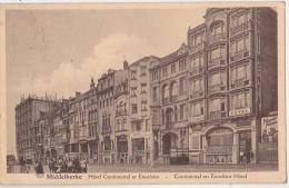 MIDDELKERKE HOTEL CONTINENTAL ET EXCELSIOR CARTE  CIRCULEE - Middelkerke
