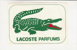 Autocollant - LACOSTE  PARFUMS - CROCODILE - - Autocollants