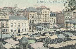 Charleroi - Superbe Carte Couleur Du Marché De La Ville Basse - 1905  ( Voir Verso ) - Charleroi