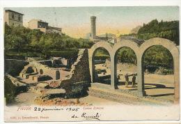 Fiesole Terme Romane Edit A. Brunelleschi  Timbrée Fiesole 1905 - Italie