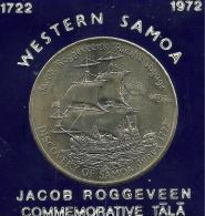 SAMOA $1 TALA SHIP OF JACOB ROGGEVEEN FRONT EMBLEM BACK 1972 UNC KM? READ DESCRIPTION CAREFULLY !!!